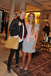 Left to right, HANNELI RUPERT and ADRIANA CHRYSSICOPOULOS at a champagne breakfast hosted by Carolina Gonzalez-Bunster and TOD's in aid of the Walkabout Foundation held at TOD's, 2-5 Old Bond Street, London on 9th May 2013.
