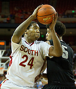 Rick Curry (24) of South Grand Prairie makes a move toward the basket against Cibolo Steele during the UIL Conference 5A semifinals at the Frank Erwin Center in Austin on Friday, March 8, 2013. (Cooper Neill/The Dallas Morning News)