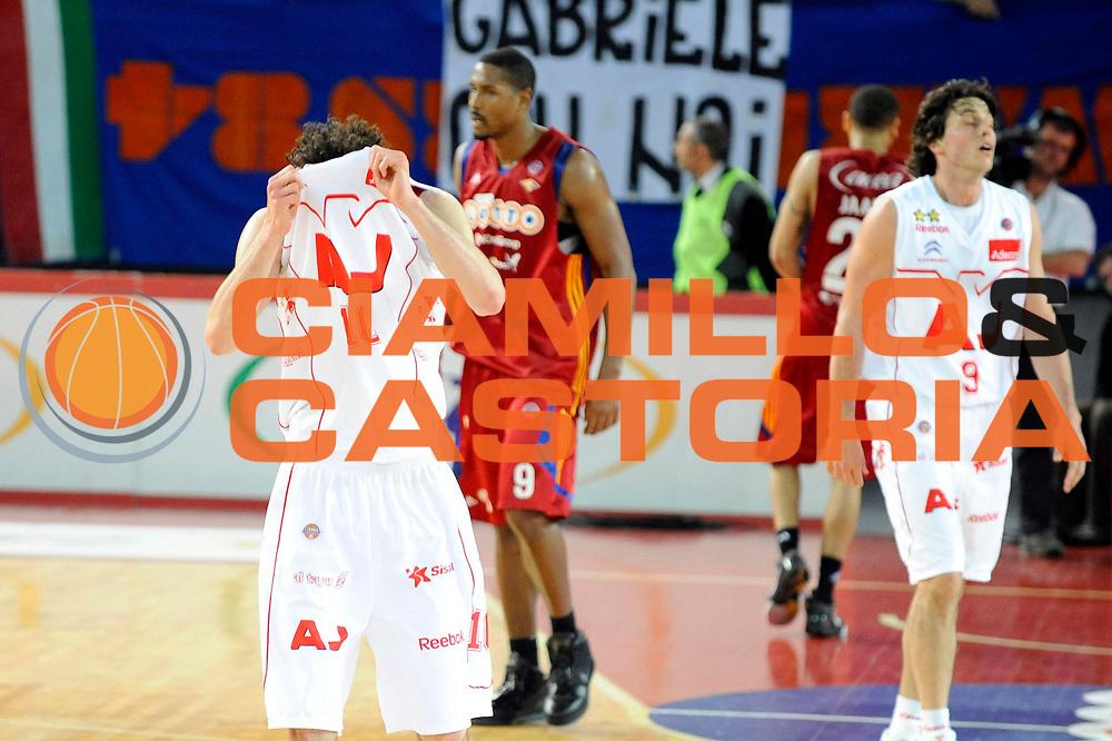 DESCRIZIONE : Roma Lega A 2008-09 Lottomatica Virtus Roma Armani Jeans Milano<br /> GIOCATORE : Luca Vitali <br /> SQUADRA : Armani Jeans Milano<br /> EVENTO : Campionato Lega A 2008-2009 <br /> GARA : Lottomatica Virtus Roma Armani Jeans Milano<br /> DATA : 26/04/2009<br /> CATEGORIA : Delusione<br /> SPORT : Pallacanestro <br /> AUTORE : Agenzia Ciamillo-Castoria/G.Ciamillo<br /> Galleria : Lega Basket A1 2008-2009<br /> Fotonotizia : Roma Lega A 2008-2009 Lottomatica Virtus Roma Armani Jeans Milano<br /> Predefinita :