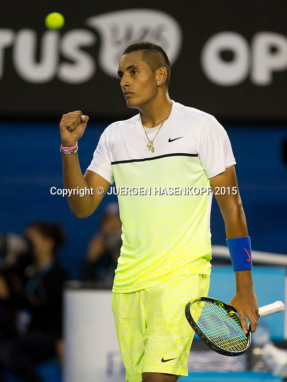 Nick Kyrgios (AUS) jubelt, Jubel, Emotion,<br />