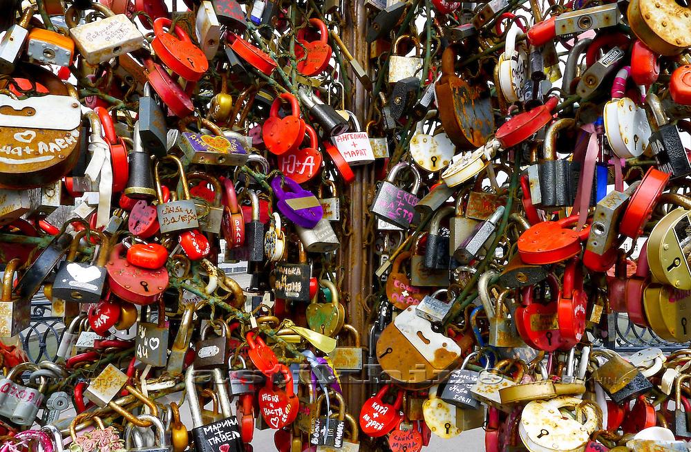 Locks on Luzhkov Bridge.