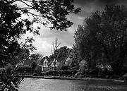 Maidenhead. Berkshire. United Kingdom. General view, at the start background, Riverside residences  on the course of the 2017 Maidenhead Junior Regatta  River Thames. <br /> <br /> [©Peter SPURRIER/Intersport Images] Sunday. 14.05.2017