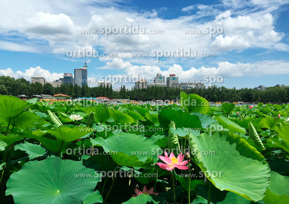 Photo taken by a cell phone on June 13, 2015 shows the scenery of Yuyuantan Park in Beijing, capital of China. EXPA Pictures &copy; 2015, PhotoCredit: EXPA/ Photoshot/ Wang Quanchao<br /> <br /> *****ATTENTION - for AUT, SLO, CRO, SRB, BIH, MAZ only*****