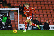 Brad Potts of Barnsley (20) gets forward during the EFL Sky Bet League 1 match between Barnsley and Charlton Athletic at Oakwell, Barnsley, England on 29 December 2018.