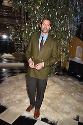 Patrick Grant at reception to celebrate the launch of the Claridge's Christmas Tree 2017 at Claridge's Hotel, Brook Street, London England. 28 November 2017.<br /> Photo by Dominic O'Neill/SilverHub 0203 174 1069 sales@silverhubmedia.com