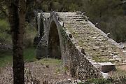 Greece, Epirus, Zagori, Pindus Mountains, The Plakidhas Stone Bridge