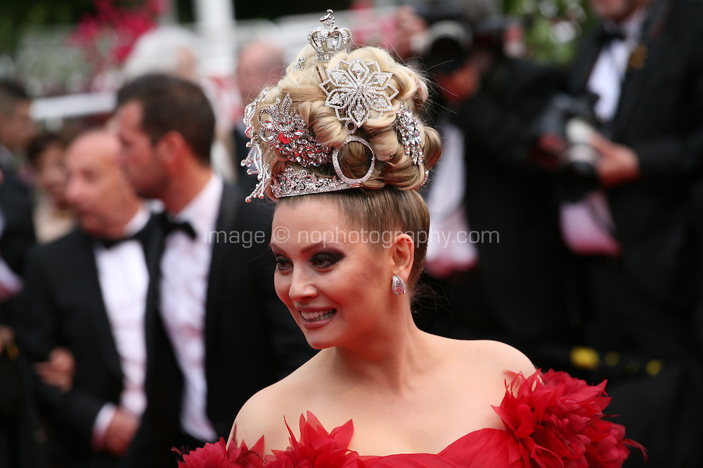 Elena Lenina at the the Grace of Monaco gala screening and opening ceremony red carpet at the 67th Cannes Film Festival France. Wednesday 14th May 2014 in Cannes Film Festival, France.