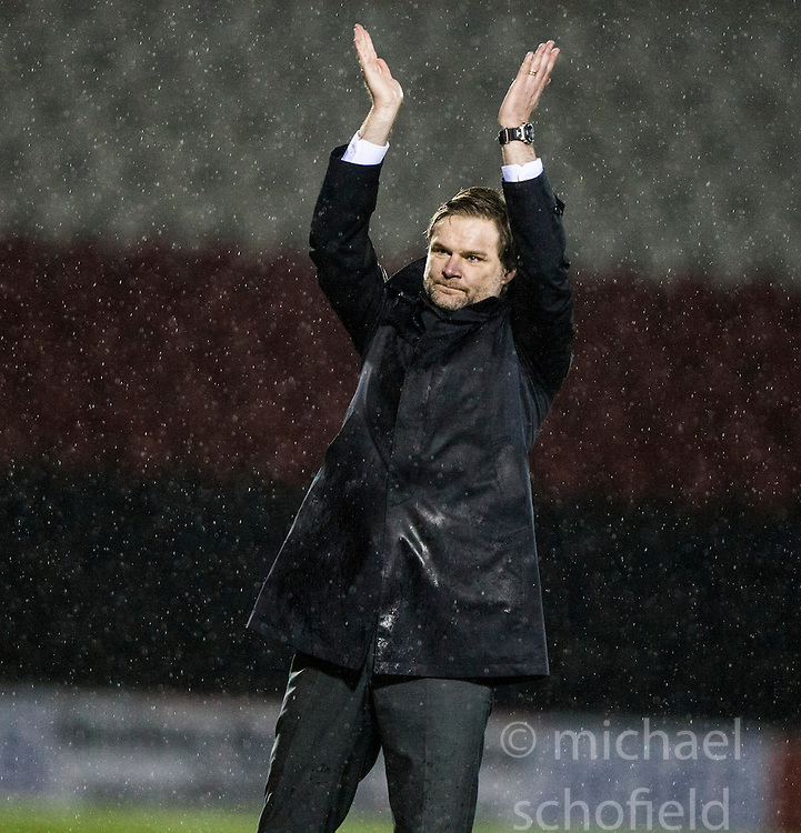 Steven Pressley, Falkirk manager at the end of the match..Airdrie United 1 v 4 Falkirk, 22/12/2012..©Michael Schofield.