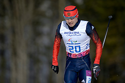 MINNEGULOV Rushan competing in the Nordic Skiing XC Long Distance at the 2014 Sochi Winter Paralympic Games, Russia