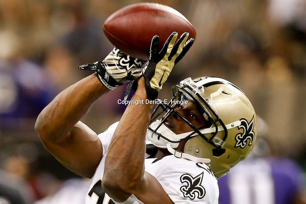 Aug 28, 2014; New Orleans, LA, USA; New Orleans Saints free safety Jairus Byrd (31) before a preseason game against the Baltimore Ravens at Mercedes-Benz Superdome. Mandatory Credit: Derick E. Hingle-USA TODAY Sports