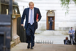 © Licensed to London News Pictures. 08/05/2018. London, UK. Foreign Secretary Boris Johnson arrives on Downing Street for the Cabinet meeting. Photo credit: Rob Pinney/LNP