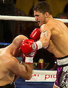 Nathan Cleverly from Wales is fighting against Aleksy Kuzlemski from Poland for the WBO World Light-Heavyweight Championship, in the World Championship Boxing event at The O2 in London, Saturday, May 21st, 2011..Bogdan Maran / ClevaMedia