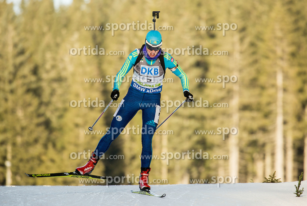 Darya Usanova (KAZ) competes during Women 7,5 km Sprint at day 2 of IBU Biathlon World Cup 2015/16 Pokljuka, on December 18, 2015 in Rudno polje, Pokljuka, Slovenia. Photo by Vid Ponikvar / Sportida