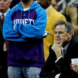 April 15, 2012; New Orleans, LA, USA; New Orleans Saints general manager Mickey Loomis during the second half of a game between the New Orleans Hornets and the Memphis Grizzlies at the New Orleans Arena. The Hornets defeated the Grizzlies 88-75.  Mandatory Credit: Derick E. Hingle-US PRESSWIRE