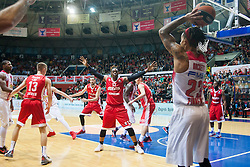 During Euroleague basketball match in 6th Round of Group B between KK Cedevita Zagreb and Olympiacos Piraeus, on November 19, 2015, in Drazen Petrovic basketball hall, Zagreb, Croatia.
