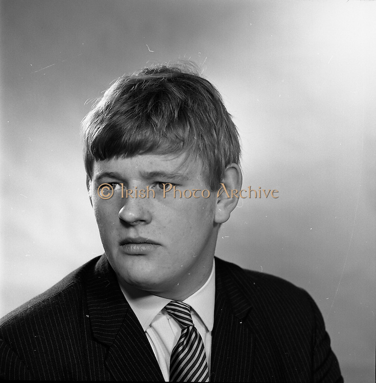 16/09/1968<br /> 09/16/1968<br /> 16 September 1968<br /> Piggybank Grocers at Lensmen studio. Pictured is David Brady, Blackrock.