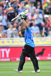 Sussex Sharks' Luke Wright acknowledges the crowd after being caught by Somerset's Max Waller during the Vitality T20 Blast Semi Final match on Finals Day at Edgbaston, Birmingham.