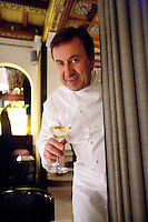 .Chef Daniel Boulud, in his French restaurant Daniel, NYC.