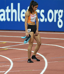 06-03-2015 CZE: European Athletics Indoor Championships, Prague<br /> Madiea Ghafoor NED wordt uitgeschakeld in de halve finale van de 800 meter