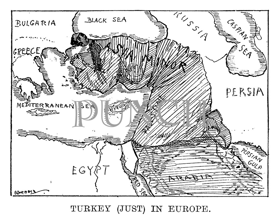 Turkey (Just) in Europe.