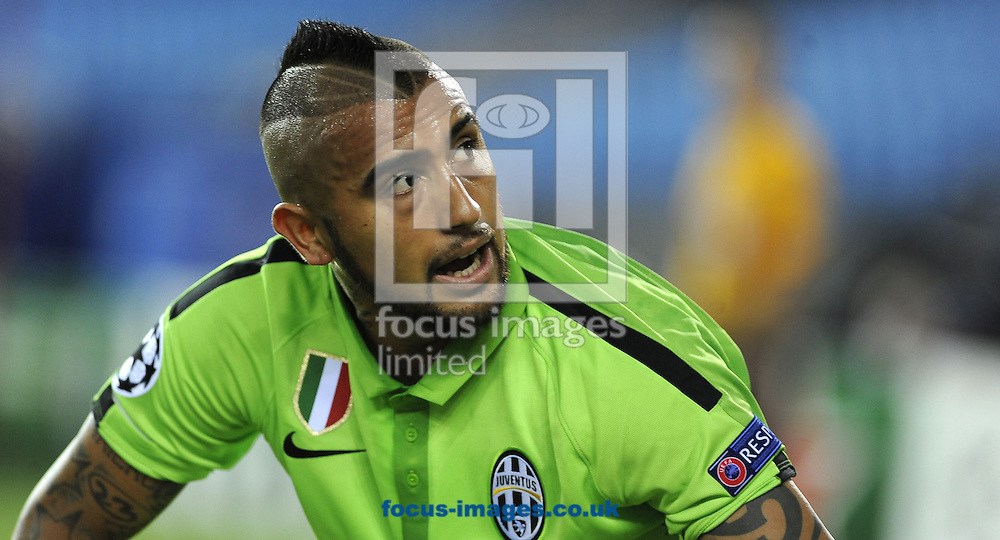 Arturo Vidal of Juventus during the UEFA Champions League match at Vicente Calder&oacute;n Stadium, Madrid<br /> Picture by Stefano Gnech/Focus Images Ltd +39 333 1641678<br /> 01/10/2014