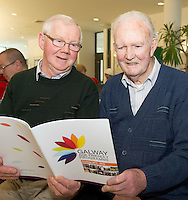Tom Madden and Tom Quinn  Ballinasloe  at NUIG for the launch of the Galway Age Friendly Strategy, which sets out a plan to make Galway City and County a great place in which to grow up and grow old. The Strategy was developed following extensive consultation with older people across the city and county and aims to ensure that older people continue to be supported to play an active role in their communities. The launch of the strategy is an important milestone as it sets out a blueprint for how we will plan and develop communities in the coming years to ensure that Galway is a truly great place in which to grow up and grow old. Photo:Andrew Downes