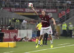 August 3, 2017 - Milan, Italy - Andrea Conti during the preliminaries of Europa League 2017/2018 match between Milan v Craiova, in Milan, on august 3, 2017  (Credit Image: © Loris Roselli/NurPhoto via ZUMA Press)