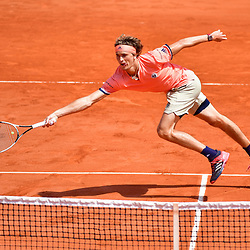 Alexander Zverev of Germany during Day 8 of the French Open 2018 on June 3, 2018 in Paris, France. (Photo by Dave Winter/Icon Sport)