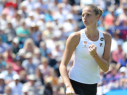 Karolina Pliskova of Czech Republic reacts after winning a point during the final of Aegon International Eastbourne tennis tournament  - Mandatory by-line: Paul Terry/JMP - 25/06/2016 - TENNIS - Devonshire Park - Eastbourne, United Kingdom - Dominika Cibulkova v Karolina Pliskova - Aegon International Eastbourne