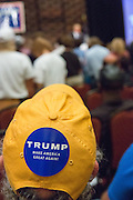 Supporters listen to Billionaire Republican presidential candidate Donald Trumpat the South Carolina African American Chamber of Commerce annual meeting September 23, 2015 in Charleston, South Carolina.