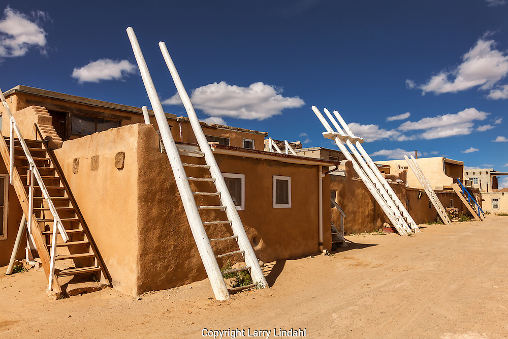 Acoma Pueblo, roof ladders, New Mexico