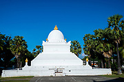 View of the Stupa at Wat Wisunarat (Wat Visoun), a Buddhist temple in Luang Prabang, Laos.