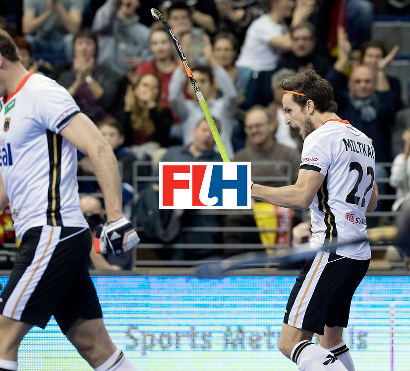BERLIN - Indoor Hockey World Cup<br /> Quarterfinal 3: Germany - Switzerland<br /> foto: Marco Miltkau.<br /> WORLDSPORTPICS COPYRIGHT FRANK UIJLENBROEK