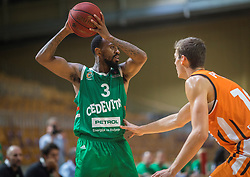 3# Ryan Jamar Boatright during the friendly match between KK Cedevita Olimpija Ljubljana and Ratiopharm Ulm on 11.9.2019 in Hala Tivoli, Ljubljana, Slovenia. Photo by Urban Meglič / Sportida