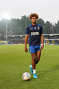 AFC Wimbledon midfielder Ossama Ashley (20) walking off the pitch during the EFL Sky Bet League 1 match between AFC Wimbledon and Southend United at the Cherry Red Records Stadium, Kingston, England on 1 January 2020.