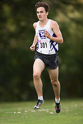 Hunter Andrin of the Western Mustangs  (301) competes in the men's 8k  at the 2015 Western International Cross country meet in London Ontario, Saturday,  September 26, 2015.<br /> Mundo Sport Images/ Geoff Robins