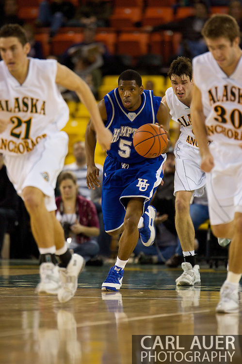 November 26, 2008: Hampton guard Brandon Tunnell (5) in the second half against Hampton in the opening game of the 2008 Great Alaska Shootout at the Sullivan Arena.