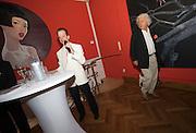 Presentation of Salon 2008 magazine at Rudolf Budja Galerie. From l.: Dr. Bodo Polzer (Editor), Emil Perauer.