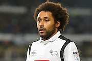 Derby County midfielder Ikechi Anya during the EFL Sky Bet Championship match between Derby County and Wigan Athletic at the iPro Stadium, Derby, England on 31 December 2016. Photo by Aaron  Lupton.