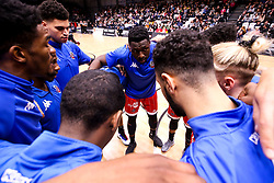 Bristol Flyers huddle ahead of their BBL fixture against Newcastle Eagles - Photo mandatory by-line: Robbie Stephenson/JMP - 01/03/2019 - BASKETBALL - Eagles Community Arena - Newcastle upon Tyne, England - Newcastle Eagles v Bristol Flyers - British Basketball League Championship