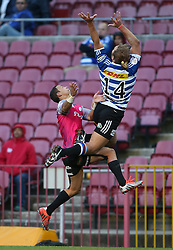 Jean-Paul Lewis of the Pumas clashes with Werner Kok of Western Province during the Currie Cup Premier Division match between the DHL Western Province and the Pumas held at the DHL Newlands rugby stadium in Cape Town, South Africa on the 17th September  2016<br /> <br /> Photo by: Shaun Roy / RealTime Images