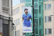 The streets are adorned with champions displays during the Premier League match between Chelsea and Sunderland at Stamford Bridge, London, England on 21 May 2017. Photo by John Potts.