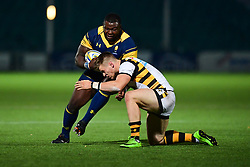 Biyi Alo of Worcester Cavaliers in action - Mandatory by-line: Craig Thomas/JMP - 23/10/2017 - RUGBY - Sixways Stadium - Worcester, England - Worcester Cavaliers v Wasps - Aviva A League
