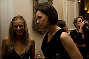 Ecaterina Cojucanu and Paula Reed, Dinner at the Italian Embassy in which the winner of the MaxMara Art Prize ( in collaboration with the Whitechapel art gallery )for Women is announced. Grosvenor Sq. London. 29 January 2008.  -DO NOT ARCHIVE-© Copyright Photograph by Dafydd Jones. 248 Clapham Rd. London SW9 0PZ. Tel 0207 820 0771. www.dafjones.com.