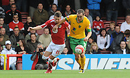 Bristol - Saturday, October 18th, 2008: Michael McIndoe of Bristol City and Lee Croft of Norwich City during the Coca Cola Championship match at Ashton Gate, Bristol. (Pic by Alex Broadway/Focus Images)