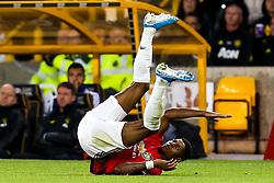 Marcus Rashford of Manchester United falls over - Mandatory by-line: Robbie Stephenson/JMP - 19/08/2019 - FOOTBALL - Molineux - Wolverhampton, England - Wolverhampton Wanderers v Manchester United - Premier League