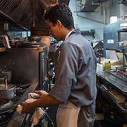 ALEXANDRIA, VA - FEB1: The executive chef at a restaurant in Alexandria, VA, is undocumented and has worked his way up from dishwasher to executive chef, February 1, 2017. (Photo by Evelyn Hockstein/For The Washington Post)