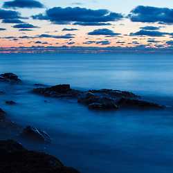 Clouds over the Atlantic at dawn, Rye, New Hampshire.