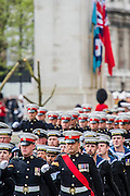 A commemoration in London to mark the Centenary of the Gallipoli Campaign 25 April 2015 at the Cenotaph on Whitehall, Westminster. Descendants of those who fought in the campaign also march past, led by military personnel, as part of the ceremony. This is an addition to the usual annual ceremony organized byvThe High Commissions of Australia and New Zealand.