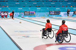 Gregor Ewan, Aileen Neilson, Marat Romanov, Andrey Smirnov, Wheelchair Curling Semi Finals at the 2014 Sochi Winter Paralympic Games, Russia